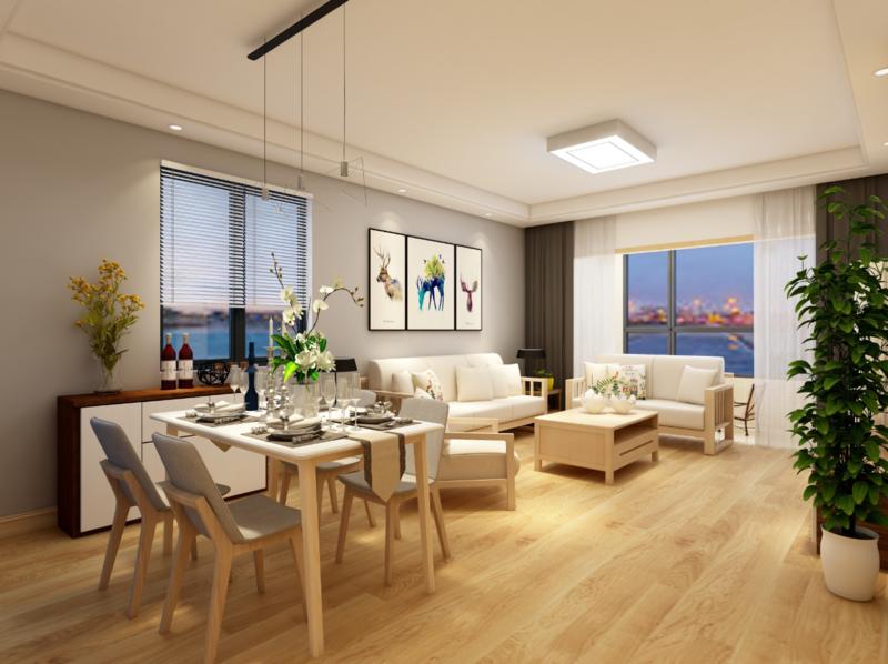 原木小清新装修案例 小区:世纪金源 户型:2室0厅1卫1厨 面积:95.